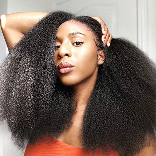 """Afro Kinky Wig 18"""" Fake Scape Fluffy Afro Curly Wig, 250% Density Synthetic Curly Wigs for Black Women, Big Natural Hairstyle"""