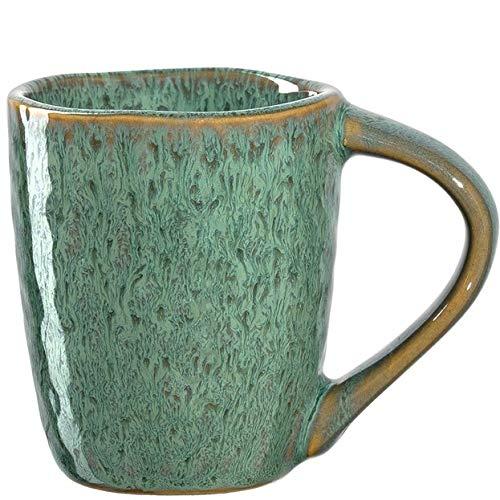 Leonardo Matera Espresso-Tasse 1 Stück, spülmaschinengeeignetes Espresso-Glas, 1 Mokka-Becher aus Steingut, Keramik-Tasse, grün 90 ml, 018597