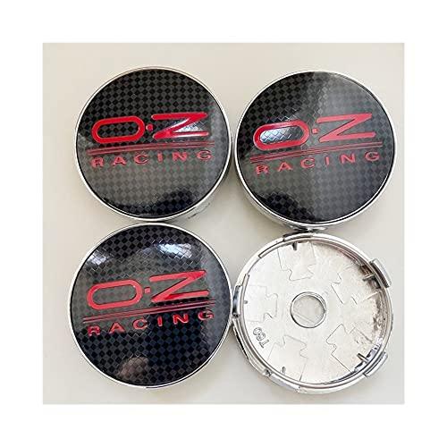 NOIFATY 4 unids 60 mm Compatible con OZ Racing Coche Centro de Ruedas Cordilleras Caps Centro de Ruedas Cap Rim Caps Emblemas Hubcaps Insignias Accesorios para automóviles (Color : Color 8)