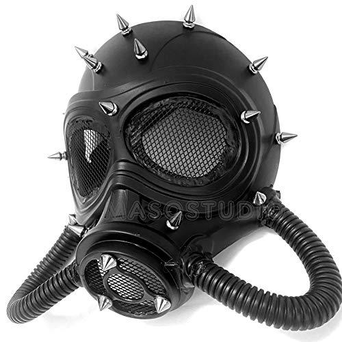 MASQSTUDIO Halloween Costume Cosplay Steampunk Dress up Party Masquerade Gas Mask (Black)