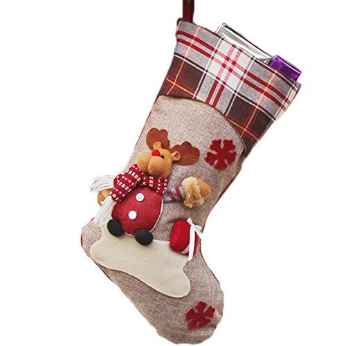 Laat año nuevo medias de Navidad calcetines Papá Noel caramelos bolsa regalo Suspensión decoración de techo,...