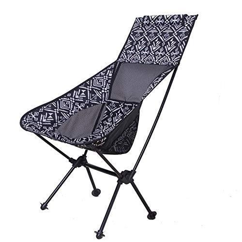 Honglimeiwujindian campingstoel, draagbaar, zonder armleuningen, ademend, zacht, vrijetijdsstoel, grill, kleine maan, vissen, camping, strand, opvouwbaar, licht, compact