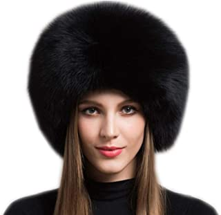 New Women's Real Fox Fur Hats Leather Outdoor Warm Winter Hats