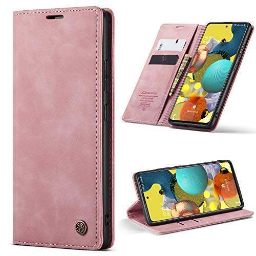 HAII OnePlus Nord Case, Flip Fold Leather Wallet Case with Credit Card Slot and Kickstand Magnetic Closure Protective Cover for OnePlus Nord (Pink)