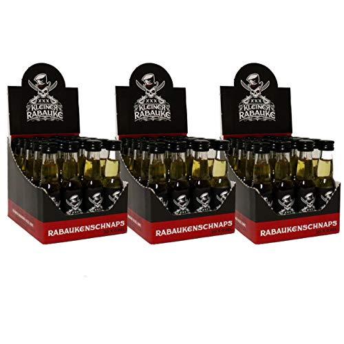 Kleiner Rabauke Premium Schnaps | Likör 3 Boxen 60 x 0,02l Alkohol | verfeinert mit Jamaica Rum | Made in Germany | Shots Gläser - Flaschen als Geschenk und für Longdrinks & Cocktails