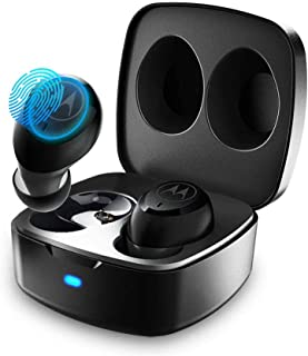 Motorola Verve Buds 100, True Wireless Bluetooth Waterproof Earbuds with 12 Hours Battery, Mic, Mono Mode and Portable Charging Case - Black (Pack of1)