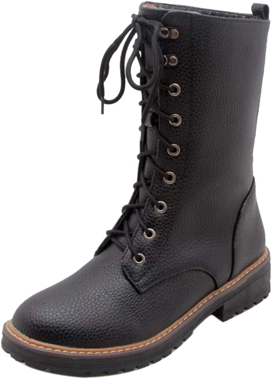 CularAcci Women Fashion Low Heel Ankle Boots
