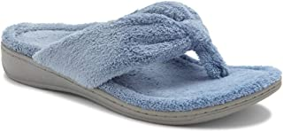 Vionic Women's Indulge Gracie Slipper - Ladies Toe-Post Thong Slippers with Concealed Orthotic Arch Support