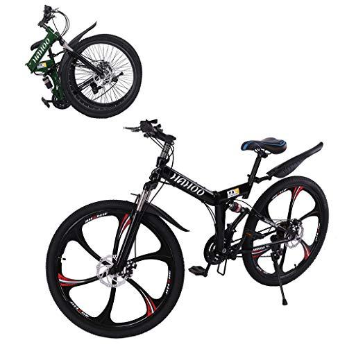 US Fast Shipment Outroad Mountain Bike,26 Inch Mountain Bike with 6 Spoke 21 Speed Dual Disc...