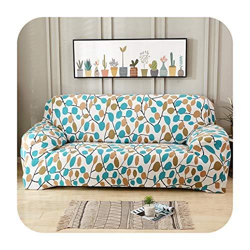 Hylshan Geometría elástica Spandex Funda de sofá para sofá ajustado Todo Incluido Fundas de sofá para sala de estar seccional sofá cubierta Asiento-012-4 plazas 235-300cm