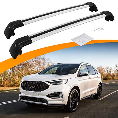 SnailAuto Adjustable Cross Bars Roof Rack Luggage Carrier Fit for Ford Edge 2017 2018 2019 2020