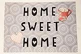 """Textil-Tischset zweilagig """"Home – Sweet – Home"""", auf Wunsch mit Namen personalisiert (415 x 290 mm). Prima Geschenkidee"""