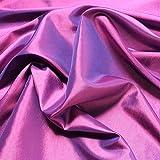 Stoff am Stück Stoff Polyester Kleidertaft lila Taft