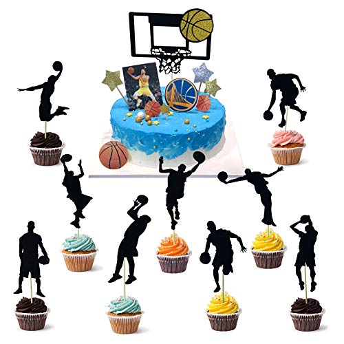 Joinor Set of 30pcs Basketball Cupcake Topper Picks Decoration Basketball Party Birthday Party Decoration Favor