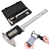 Hisoul Electric Digital Caliper with Hard Case | Absolute Measurement, Measures up to 0-6' or 0-150mm | LCD Screen Auto Off Featured Measuring Tool | Inches to Millimeter Conversion (A)