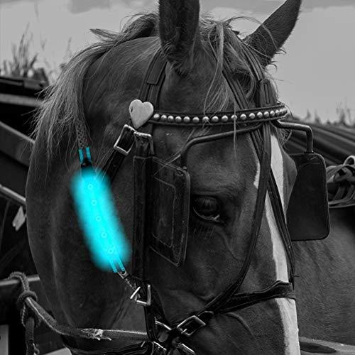 Faviye LED Pferdegeschirr Reflektierender Gurt Pferd Brustgurt Für Outdoor-Sportarten Reiten
