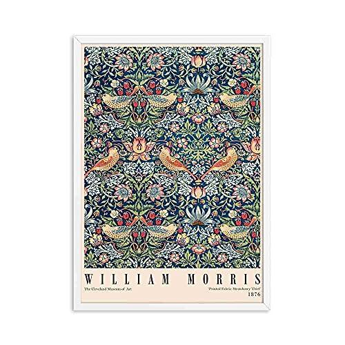 Póster de exposición impreso de William Morris, arte nouveau subterráneo de Londres, cuadro impreso familiar, lienzo sin marco, pintura A2 15x20cm