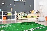 Oedim Alfombra Personalizada Campo de Fútbol para Habitaciones PVC | 95 x 120 cm |Moqueta PVC | Suelo vinílico | Decoración del Hogar | Suelo de Protección Infantil