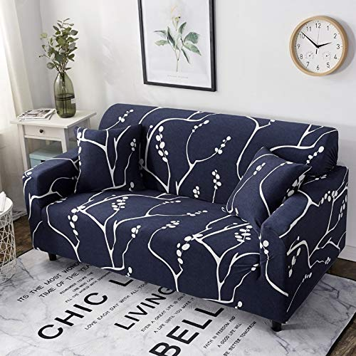 Fundas de sofá con Estampado Floral Fundas de Esquina de sofá seccionales elásticas Fundas de sofá Fundas para Muebles Sillones A12 3 plazas