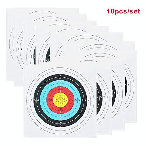 GK 10 X Tiro con Arco y Objetivo de Ballesta Caras 40cm x 40cm Flecha de Entrenamiento Tiro