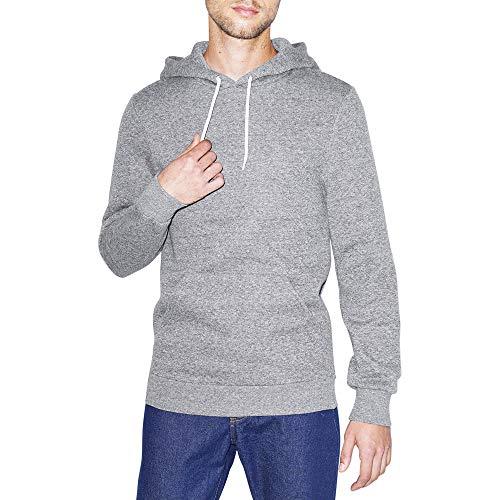American Apparel Unisex-Erwachsene Fleece Long Sleeve Pullover Hoodie Kapuzenpulli, Peppered Grey, Medium