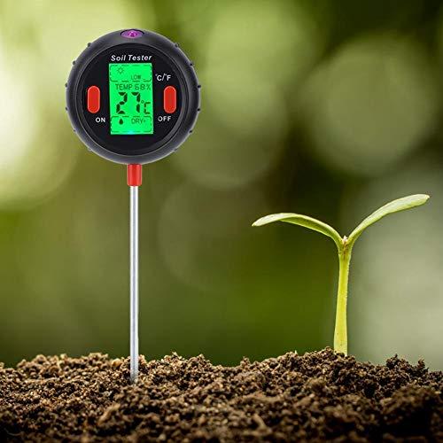 Weiyiroty Detector de Suelo, probador de Suelo, analizador de Suelo 5 en 1, Multifuncional para jardinería Herramientas de Prueba de Suelo Herramientas de jardín Cuidado del césped