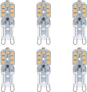 Uonlytech 3W G9 LED Bulb Halogen Warm White High Light Energy Saving Bulb 6PCS/Set