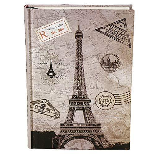 Blocs y Cuadernos de Notas Diario Ilustraciones Creativas Color Mood Notebook Papelería Estilo Europeo Retro Lovely Lovely Thick Diary Book Blocs y Cuadernos de Notas (Color : C)
