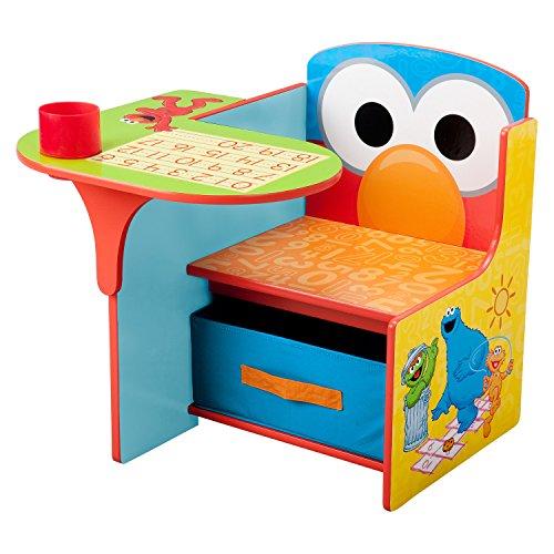 Delta Children Sesame Street Kids Desk Chair, Under-The-seat Storage, Sturdy and Durable