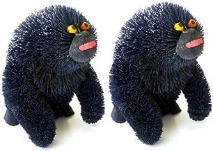Martha Stewart Buri Bristle Brush Gorilla Christmas Ornaments (Set of 2)