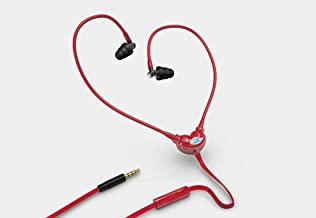 WOREMOR Safe EMF Headset and Anti Radiation Headphones or Protection Earbuds or Earphones with Air Tube Eliminating Electromagnetic Fields (Red)