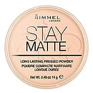 Rimmel London Stay Matte Pressed Powder, Mineral Formula for Long-lasting Shine Effect, 006 Warm Bei...