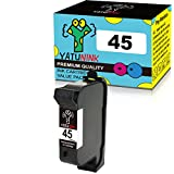 YATUNINK Remanufactured Replacement for HP 45 Black Ink Cartridges 51645A 1 Pack