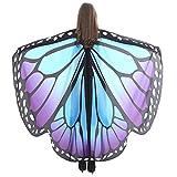 QinMM Disfraz de Cosplay para Mujer Chal de alas de Mariposa de Las Mujeres Bufandas Poncho NINFA Pixie Accesorio de Disfraces