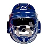 KZY Taekwondo Casco Protector Gear, Color Azul, tamaño Large