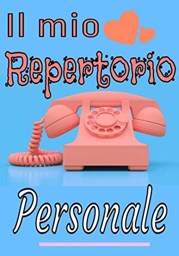 Il mio repertorio personale: Una bella e grande rubrica telefonica, indirizzi, e-mail con lettere in ordine alfabetico