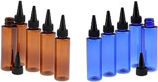 Baosity 10 Pieces Plastic Essential Oil Bottle Refillable Perfume Vial, Plastic Liquid Bottles, Travel Cream Bottle 100ml