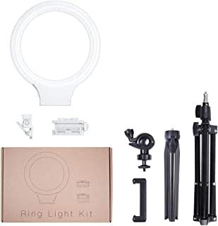 DFYYQ LED Ring Light with Tripod USB Power Supply Phone Holder Fill Light Color : E Microphone Clip Bluetooth Remote Control Optional Flashes