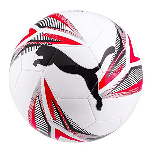 PUMA ftblPLAY Big Cat Ball Balón de Fútbol, Unisex-Adult, White Black Red Silver, 5