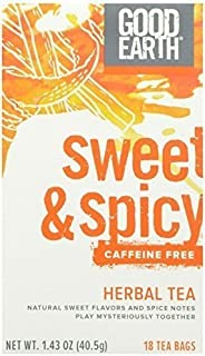 Good Earth Tea Sweet and Spicy Caffeine-free, 18 Teabags