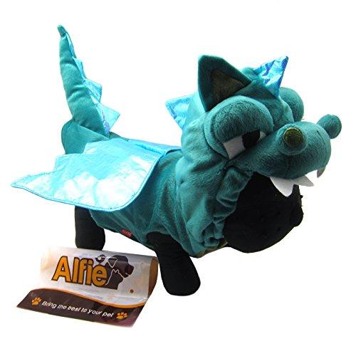 Alfie Pet - Smokie The Dragon Dinosaur Costume - Color: Green, Size: S