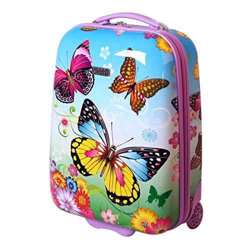 Karry Butterfly - Maleta rígida de equipaje de mano infantil led (Varios Modelos)