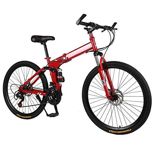 "CEALEONE Bike-to-Go Folding Fahrrad - 20\"" Rad, hinten Hydraulic Shock Aufhängung, Faltbare Pedale, Aluminium-Legierung Fahrrad-Rahmen,Rot"