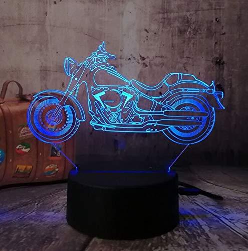 Neue Motorrad Roller 3D LED Nachtlichter RGB 7 Farben USB Touch Remote Tischlampe Home Party Dekor Kinder Weihnachtsgeschenk Lava Touch One 7 Farbe
