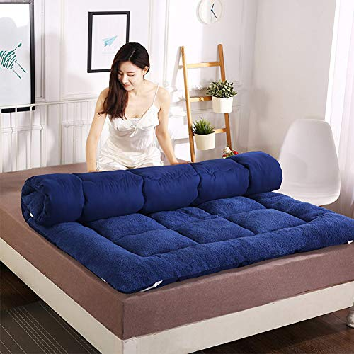 Futon Mattresses Colchón de futón, colchón Tatami de 10 cm, Acolchado Engrosamiento colchón Plegable para Dormitorio, Oficina y Dormitorio de Estudiantes,A,100 * 200cm/39 * 79inch