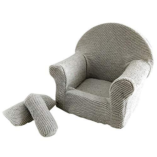 POHOVE Baby-Sofa-Set für Neugeborene, Fotografie-Requisiten, klein, mit Kissen, Sitzhaltung, praktischer Sessel, Zubehör, weich, strapazierfähig, für Fotoshootings (SS26)