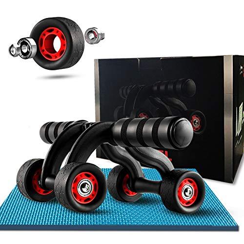 Bauchroller AGYH 4-Rad-Design Ab Roller Wheel, Ultra-leises Indoor- / Sport-Fitnessgerät, Kann Mehrere Gruppen Von Muskelgruppen Trainieren, Rutschfestes Design