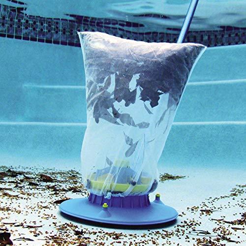 Kbsin212 Aspiradora de hojas de piscina con cepillos y ruedas giratorias, bolsa de red ultrafina para limpiar la piscina subterránea, esquinas y colgar, 15,3 x 15,3 x 6,7 pulgadas