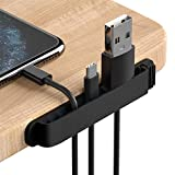PZOZ Cable Clips, 3 Pack Cord Organizer Charger Cable Management for Organizing Home Office Desk Phone Car Cable Wire, Self Adhesive Cord Holders (Black)