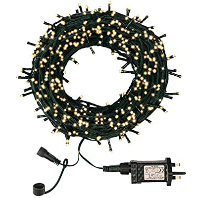 Garden String Lights Outdoor, Fairy Lights Plug in, LED Christmas Tree Lights 30m, 300 LED 8 Modes Decoration Light Mains Powered for Indoor Bedroom Festival Party (Warm White)
